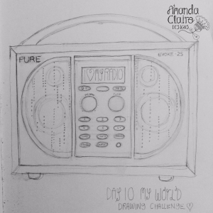 This is one of my best possessions, if you asked me to choose between radio or tv, Radio would win hands down,. when i am drawing  love having the radio on, great plays and stories and it how I hear the news. I LOVE MY RADIO.